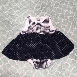 Striped Daisy Ballooned Onesie 🌼